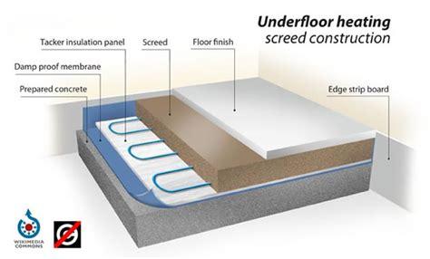 underfloor heating screed construction  screed scientist