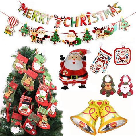 christmas   year decor santa claus balloon glove