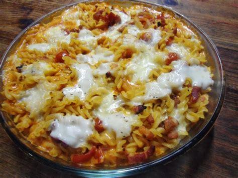 pates tomates cerises mozzarella li lou gratin de p 226 tes tomate cerises lardons mozzarella