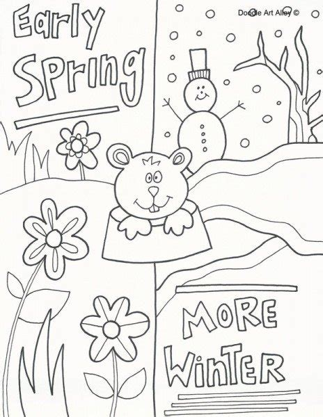groundhog day coloring pages groundhog day coloring sheets