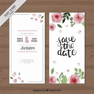 watercolor roses wedding invitation vector free download With free printable rose wedding invitations