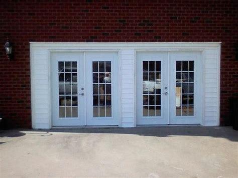 convert garrage door to windows converted garage doors into doors craft rooms sheds and the o jays