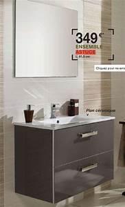 meuble vasque lapeyre obasinccom With meuble salle de bain faible profondeur lapeyre