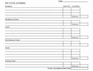 Best Photos Of Weight Watchers Food Journal Template