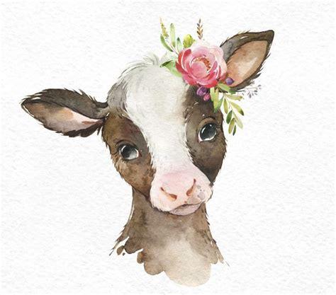 farm foal calf duckling watercolor  animals clipart