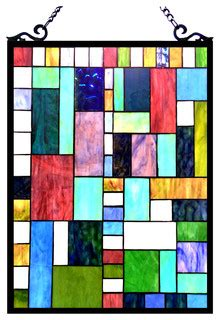 picasso rectangular window panel stained glass panels