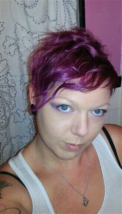 Ombre purple n pink pixie cut   Hair   Pinterest