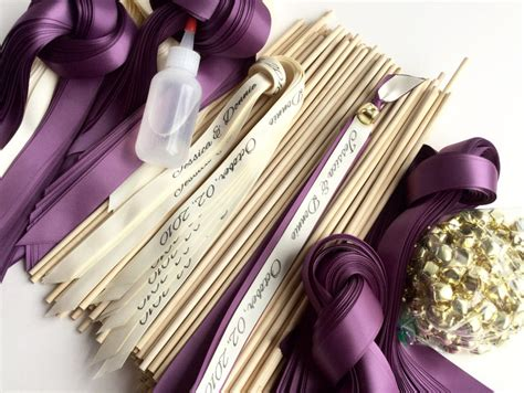 70 Diy Personalized Wedding Wand Kit Your Choice Of Ribbon