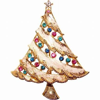 Christmas Tree Snowy Rhinestone Brooch Gorgeous Shops