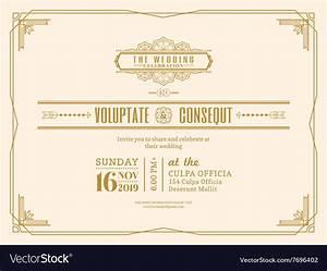 vintage wedding invitation card frame design royalty free With wedding invitation cards photo frame