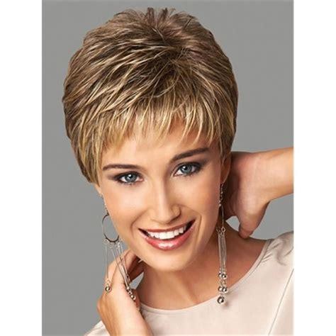cheveux brun clair couleur blond brun clair cheveux courts r 233 sistant 224 la chaleur fibre perruque synth 233 tique