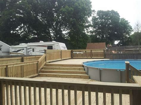 Pool Decks For Above Ground Round Pools