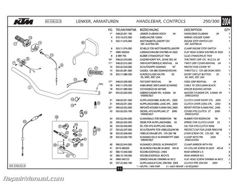 Ktm Mxc Exc Chassis Spare Parts Manual