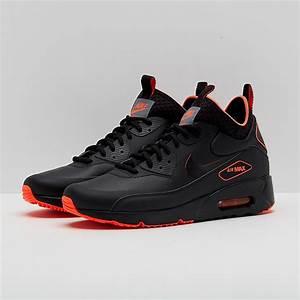 mens shoes nike air max 90 ultra mid winter se black