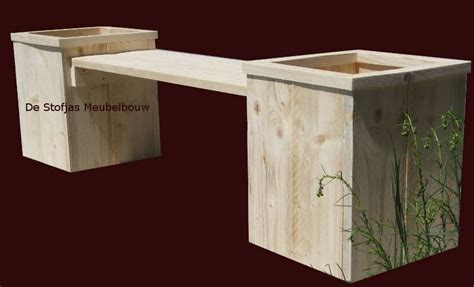 tuinbank met plantenbak van steigerhout diy