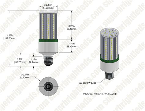 led corn light 170w equivalent incandescent conversion