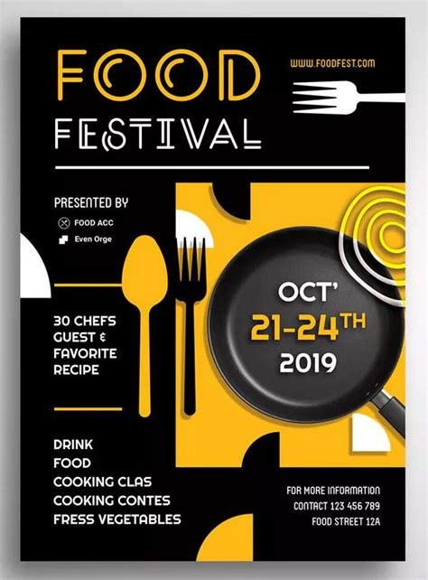 food festival promo flyer  uicreativenet  food