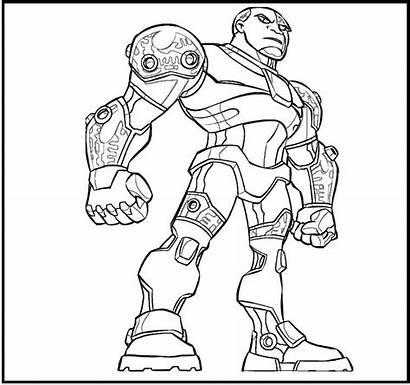 Coloring Cyborg Pages Dc Comics Justice League