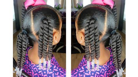 Rope Twist Ponytails W/beads Tutorial