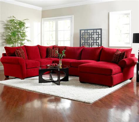 microfiber sectionals highlight your living room homesfeed - Red Microfiber Sectional Sofa With Chaise
