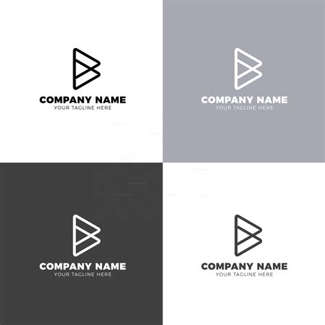 logo design template triangle creative logo design template 001878