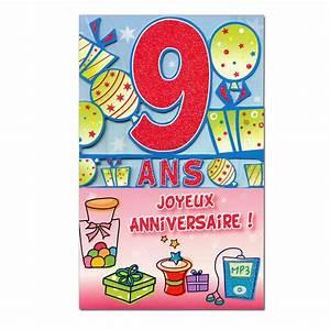 Carte Anniversaire Fille 9 Ans : carte d anniversaire 9 ans xi69 montrealeast ~ Melissatoandfro.com Idées de Décoration