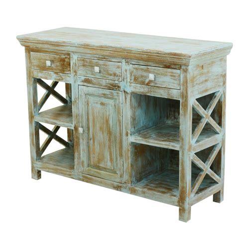 Open Sideboard by Country Kitchen Mango Wood Open Shelves Buffet Sideboard