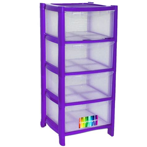 Plastic Drawers by 4 Drawer Plastic Large Tower Storage Drawers Chest