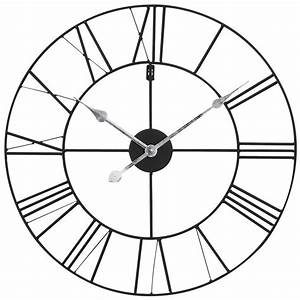 Horloge En Metal : horloge en m tal noir d 60 cm usine maisons du monde ~ Teatrodelosmanantiales.com Idées de Décoration