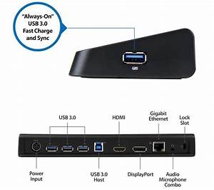 Universal Usb 3 0 Laptop Docking Station With Support For