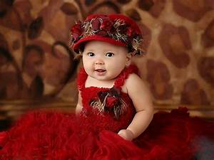 Cute babies In Red Dress - Deep HD Wallpapers For You| HD ...