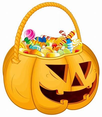 Candy Halloween Clipart Basket Treat Trick Bag