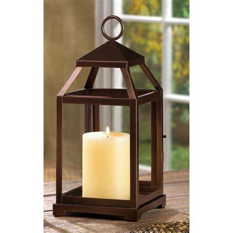 Candle Lanterns by Primitive Rustic Hanging Tabletop Metal Iron Glass Pillar