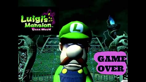 Luigis Mansion Dark Moon Game Over Story And