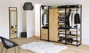 Dressing Bois Massif : dressing pour ranger sa chambre coucher les mod les du moment c t maison ~ Louise-bijoux.com Idées de Décoration