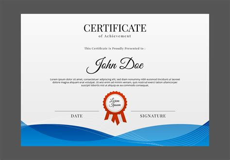 Certificate Template Free by Free Certificate Template Vector Free Vector