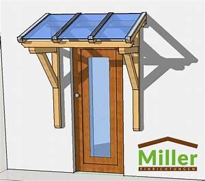 Holz Vordach Pultvordach Massivholz