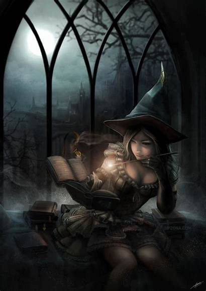 Witch Animated Spell Reading