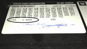 Paint Code - How To Find The Color Code on a GM 2005