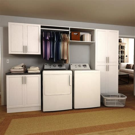 Utility Room Storage Cupboards by Modifi Horizon 60 In W White Open Shelves Laundry Cabinet