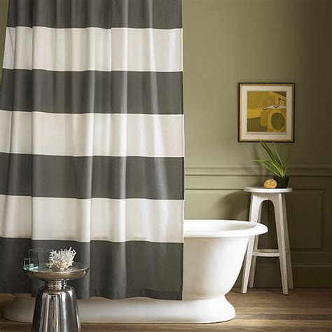 White And Gray Striped Curtains by Gray And White Striped Shower Curtain Decoist