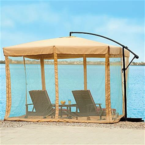 Patio Umbrella With Netting by As As It Gets Umbrella Mosquito Net 10 Square