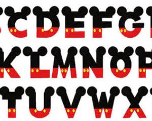 post mickey mouse font alphabet