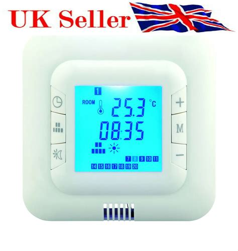 digital underfloor heating thermostat floor air sensor 609728854928 ebay