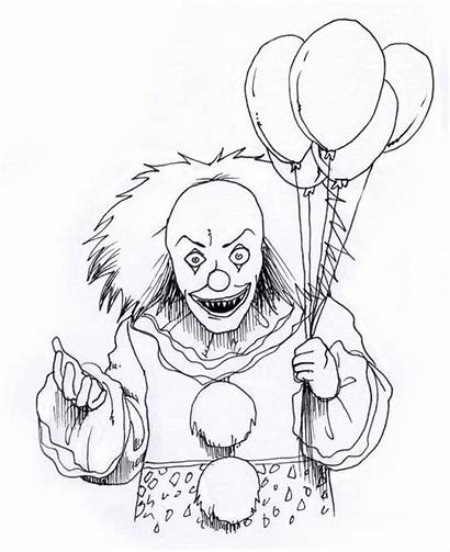 Scary Coloring Pages Creepy Clown