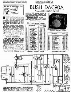 Bush Dac90a Transportable Receiver 1954 Sm Service Manual