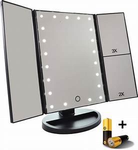 Make Up Spiegel : make up spiegel met led verlichting drieluik 2 3 maal vergroting inclusief usb kabel ~ Orissabook.com Haus und Dekorationen