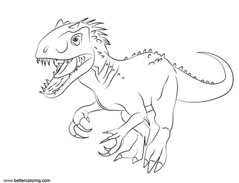 Kleurplaat Jurassic Park by Jurassic World Fallen Kingdom Coloring Pages Indomius Rex