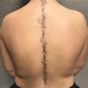 75+ Best Spine Tattoos for Men and Women - Designs ...