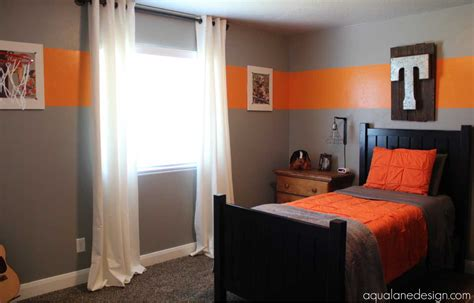 paint for boys room with grey and orange colors